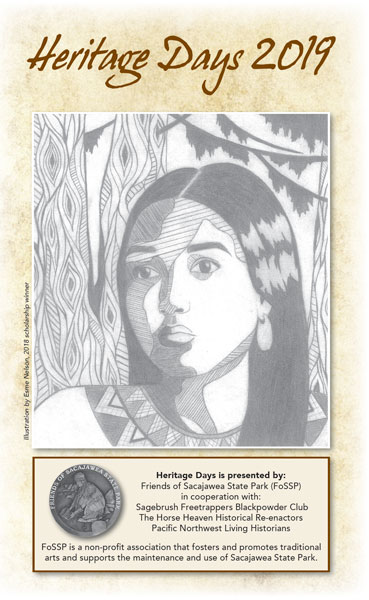 Sacagawea on the cover of a brochure